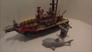 Lego Jaws Orca Boat | Custom Build