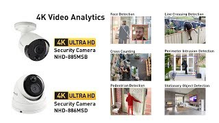 Swann Smart Video Analytics on 4K Security Cameras NHD-885MSB, NHD-885MSD for the NVR-8580