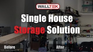 Single House, Coquitlam Bc, Before & After - Walltek Storage (garage And Storage Solutions)