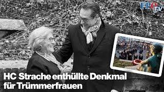 HC Strache enthüllt Denkmal für Trümmerfrauen