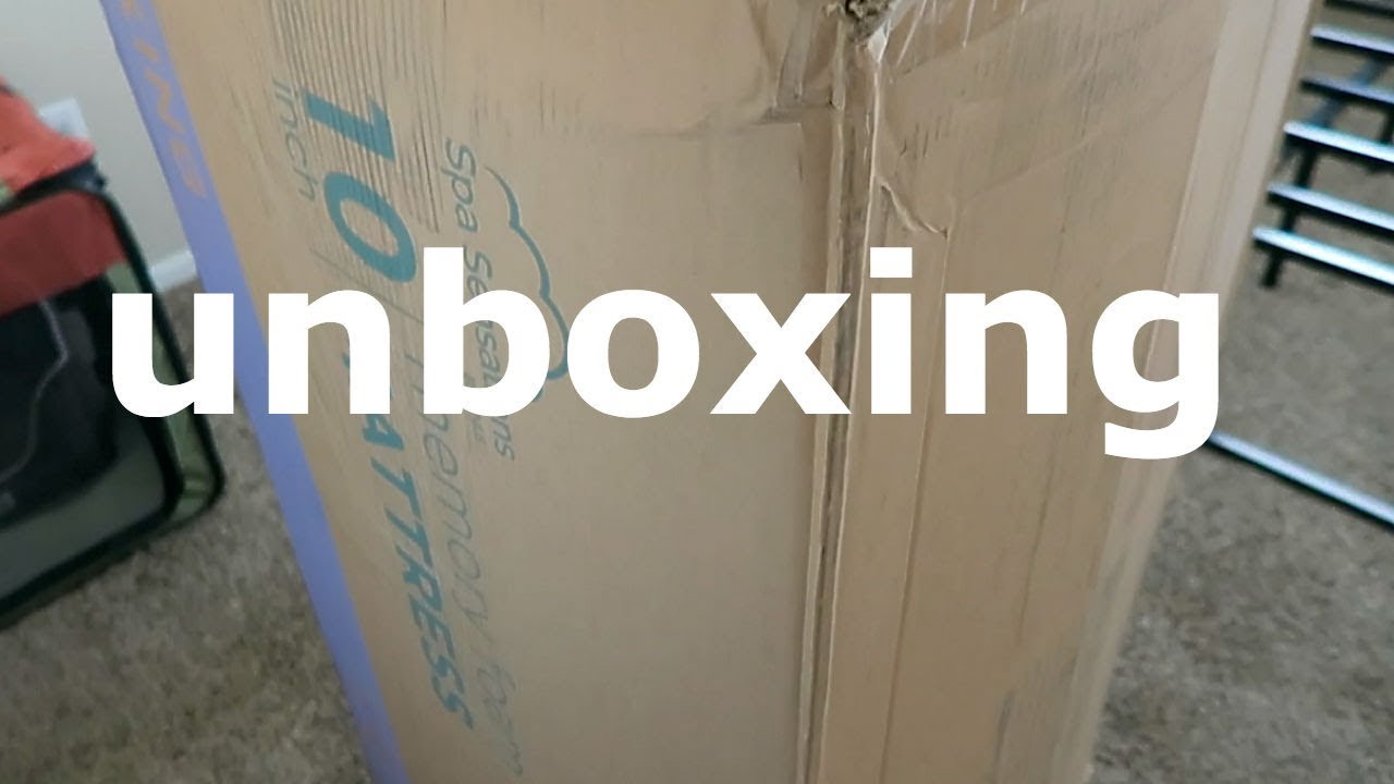 Unboxing Spa Sensation 10 Inch Memory Foam Mattress Youtube