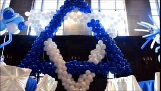 Bar and Bat Mitzvah Party Decorations.  Magen David Balloon Sculpture