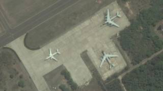 Indian Navy Tu-142Ms From Above (Before They Disappear)