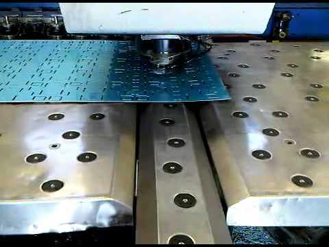 Sheet Metal CNC Punching With Trumpf 200 - Pre-anodised Aluminium Sheet