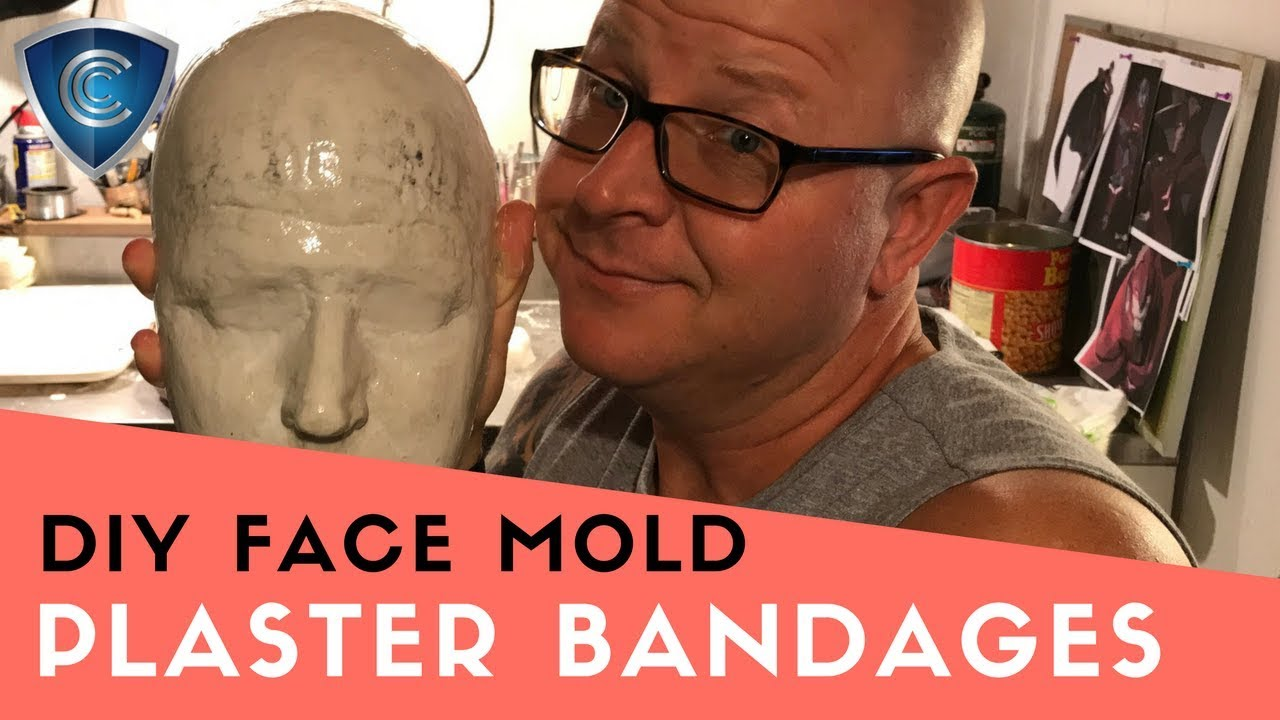 Easy Plaster bandage face mold and cast