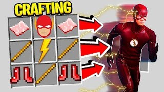 CRAFTING THE FLASH IN MINECRAFT! (SPEEDSTERS MOD)