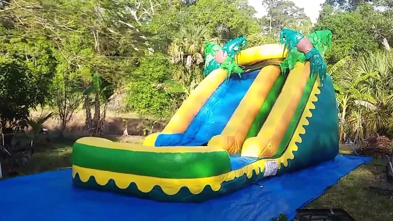 deliver a bounce house combo and 2 water slides - Water Slide Bounce House