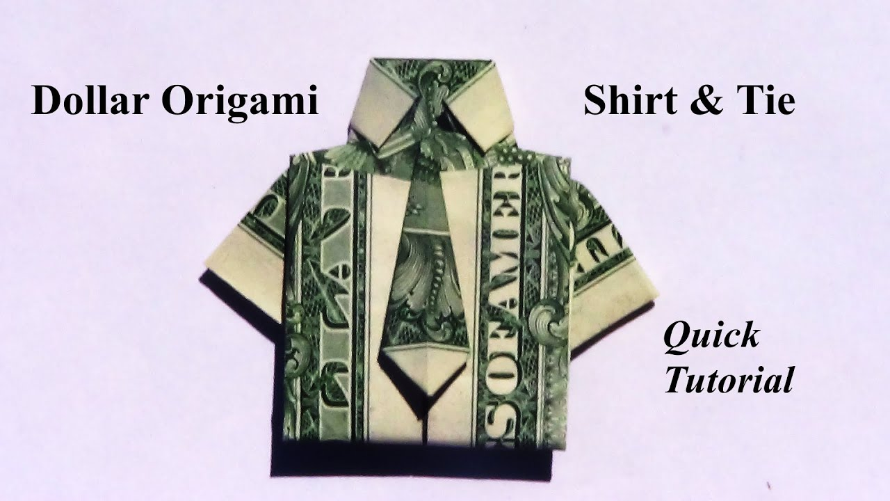 Origami Dress Out Of Dollar Bill