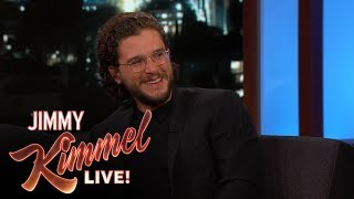 Jimmy Kimmel Grills Kit Harington for Game of Thrones Spoilers thumbnail
