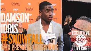 "Damson Idris interviewed at FX Network's ""Snowfall"" Premiere Red Carpet #SnowfallFX"