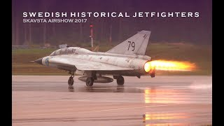 Swedish Historical Jetfighters at Skavsta Airshow 2017