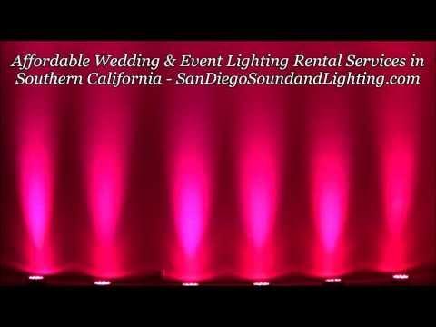 Pink UpLighting Demo, Event Decoration Ideas, Wall Lighting, Los Angeles Lighting Rental
