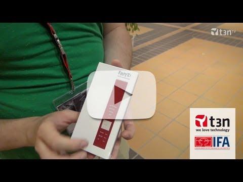 FRITZ!WLAN-Repeater DVB-C macht Kabelsender kabellos [IFA 2013 -- t3n TV]