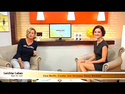 Coco Berlin Interview at Leichter Leben TV [German] Sensuous Dance Workout Sep 2016