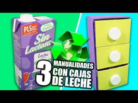 3 MANUALIDADES CON CAJAS DE LECHE|Manualidades Reciclaje|DIY