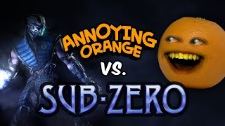 Annoying Orange vs Sub Zero (Mortal Kombat)