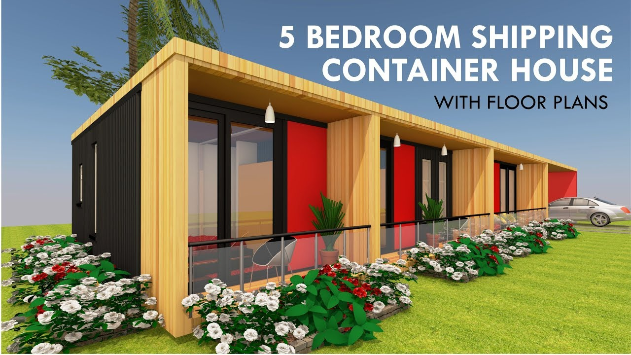 Modular Shipping Container 5 Bedroom Prefab Home Design + Floor Plans |  MODBOX 820 By SHELTERMODE