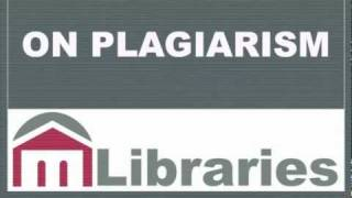 Avoiding Plagiarism... from your librarians at Montgomery County Community College