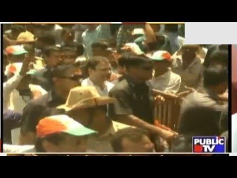 Rahul Gandhi's Road Show Gets Huge Response In Ankola