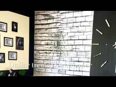 Diy Wallpaper Using Dollar Tree Foam Boards Youtube