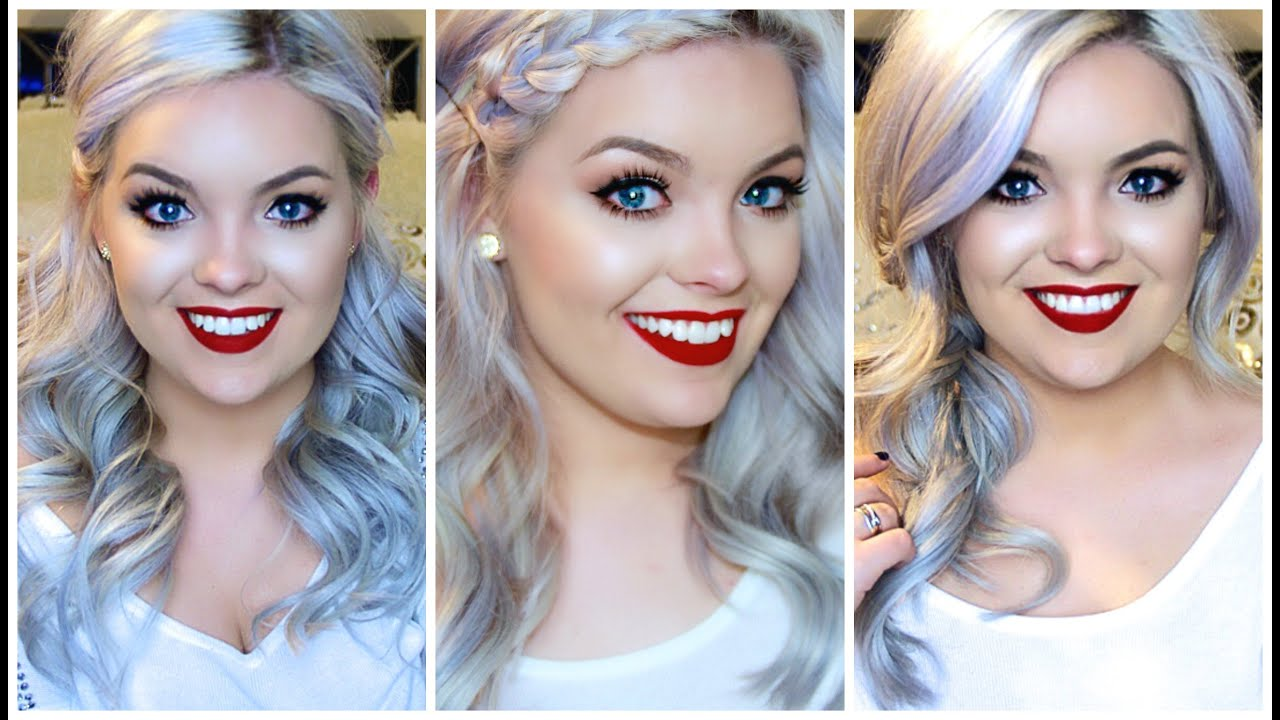 how to: holiday hairstyles (with hair extensions!) - youtube