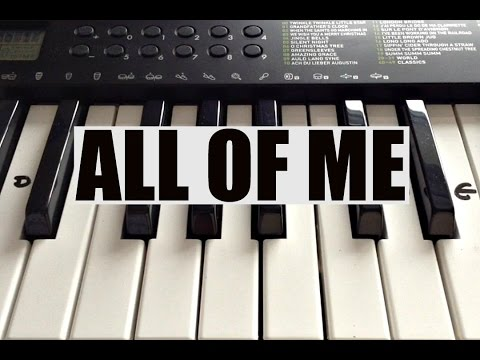 How To Play ALL OF ME- John Legend Intro on Piano - Easy!