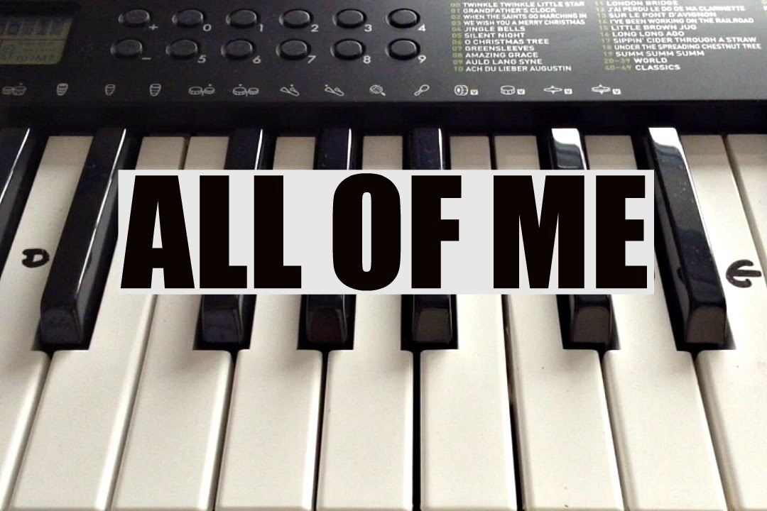 How To Play All Of Me John Legend Intro On Piano Easy Youtube