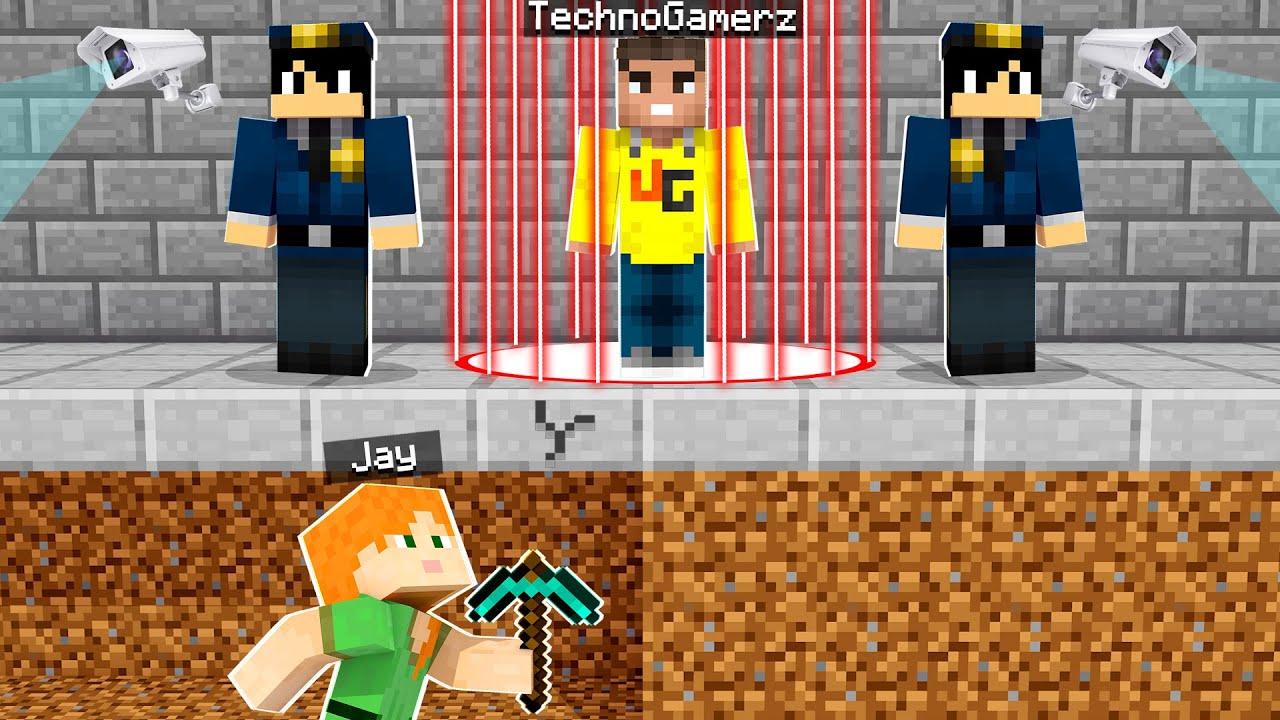 Saving TECHNO GAMERZ From Prison In Minecraft!