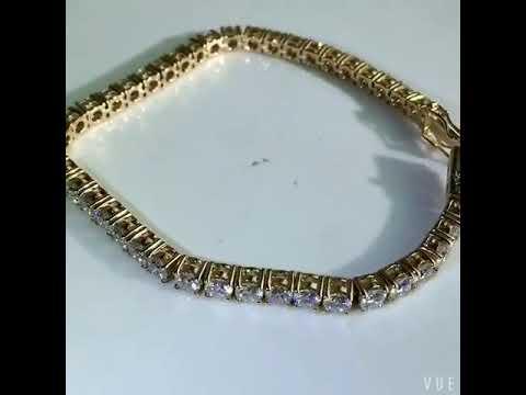 our eternal moissanite 10ctw tennis bracelet youtube. Black Bedroom Furniture Sets. Home Design Ideas