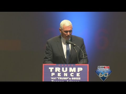 Republican vice presidential candidate Mike Pence visits Tucson