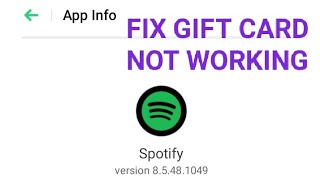 Fix Spotify Gift Card Not Working Problem Solved
