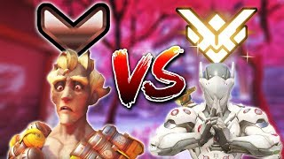 Bronze Player Vs. Grand Master 1v1 [Overwatch]