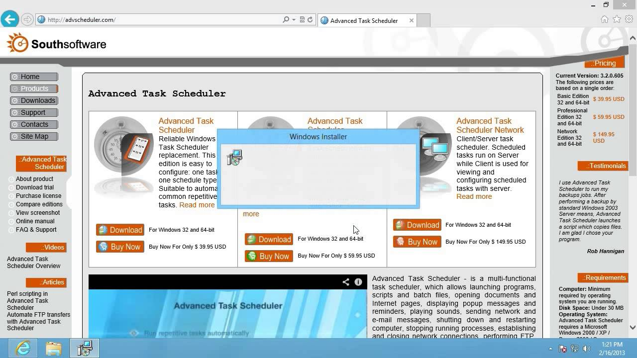 Download and setup Advanced Task Scheduler - YouTube