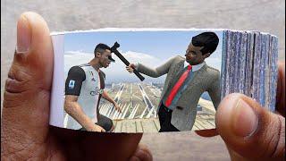 Mr. Bean Cartoon FlipBook #7 | Angry Bean Kills Cristiano Ronaldo Flip Book | Flip Book Artist 2021
