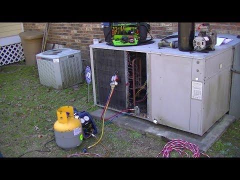 HVAC Service Training-  Condenser Refrigerant Leak Repair