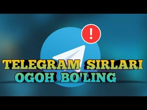TELEGRAM SIRLARI OGOH BO'LING