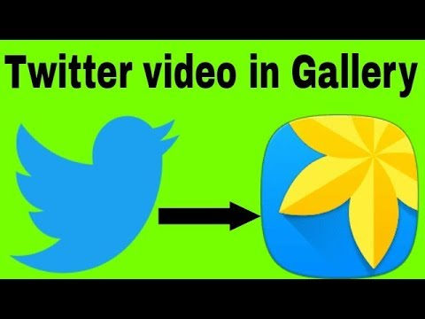 how to download video from Twitter to gallery