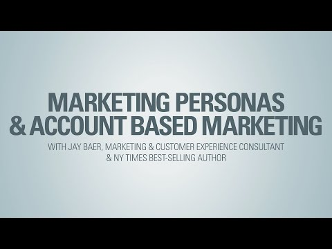 Marketing Personas and Account Based Marketing