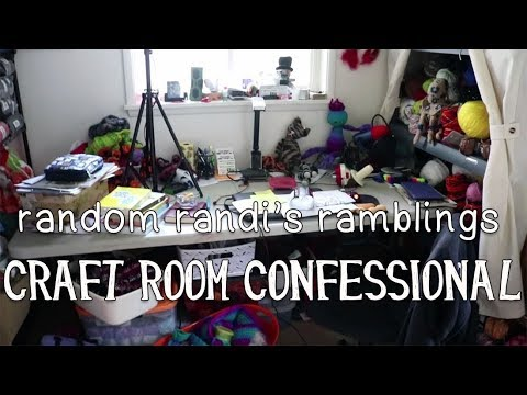 Craft Room Confessional: Organize the Yarn Stash! Declutter & Timelapsed Speed Clean!