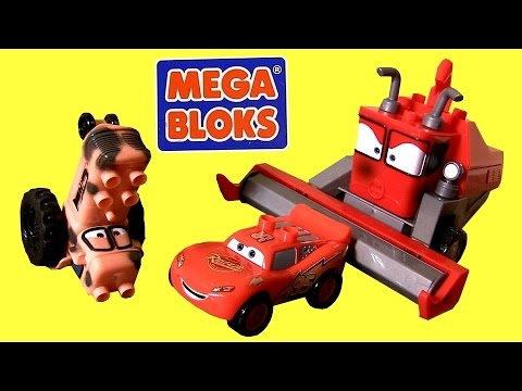 MegaBloks Cars Tractor Tipping 7786 with Frank the Combine & Lightning McQueen Lego DisneyPixarCars