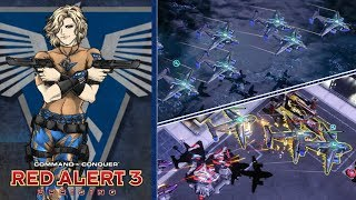 Red Alert 3 - Harbinger Gunship Superiority Style - 3 vs 3 Skirmish