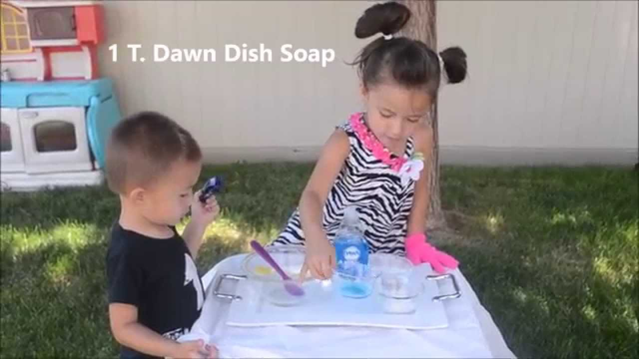 Fun for Kids! How to Make Bouncing Bubbles Solution to Bounce Bubbles (No  glycerin or corn syrup)
