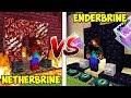 ENDERBRINE HOUSE VS NETHERBRINE HOUSE! - MINECRAFT