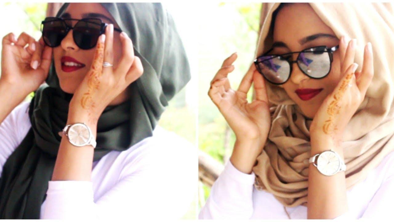 d52f352f1 لفات حجاب مع النظارات الشمسية - YouTube