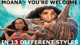 moana vaiana you re welcome in 13 different styles
