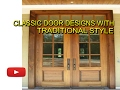classic door designs with traditional style