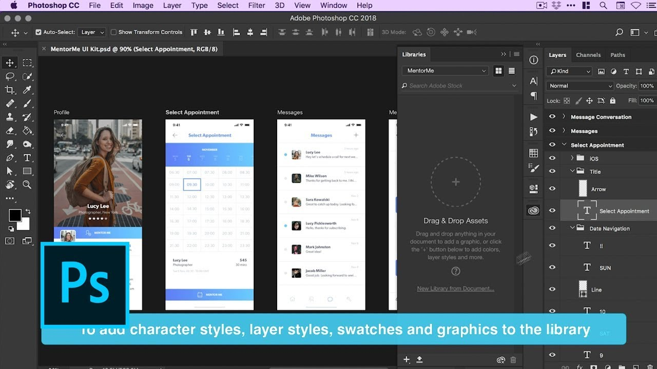 Create And Manage Libraries In Photoshop Adobe Creative Cloud Youtube