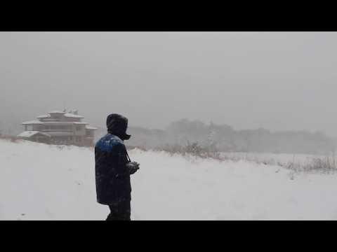 Морският дрон в снеговалеж