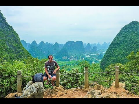 Arrival Chongqing fly to Guilin and sleep in Yangshuo Part 27 June 17 & 18 - 2010 Vlog 305