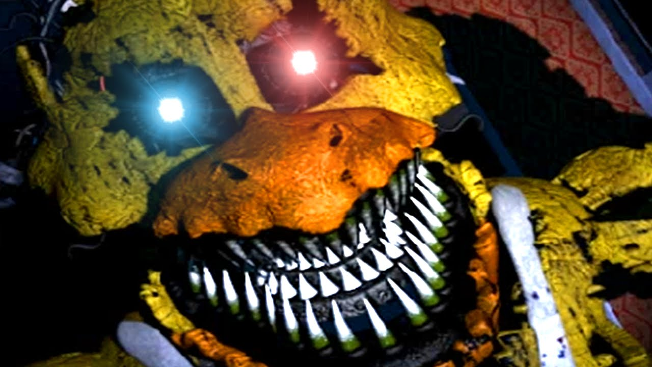 Nightmare chica jumpscare five nights at freddy s 4 youtube